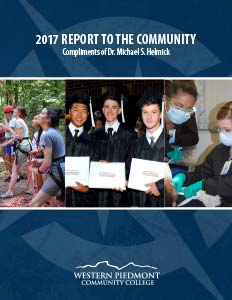 Cover of the 2017 Report to the Community