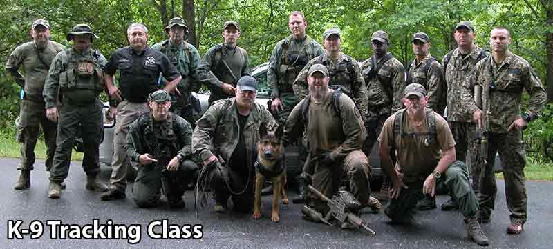 Photo of a K-9 Law Enforcement Training Class