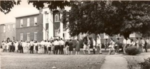 Photo of registration at Old Central Hall