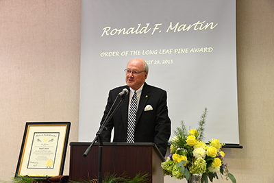WPCC Trustee Receives Order of the Long Leaf Pine