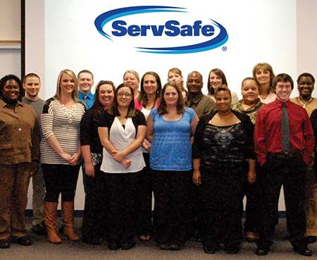ServSafe graduates pose for a photo.
