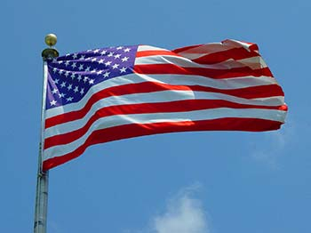 Photo of U.S. Flag flying in a breeze