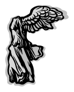 Clip art of a stylized wing to represent a sculpture
