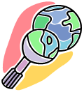 Clip Art of a globe to represent the Country pathfinder