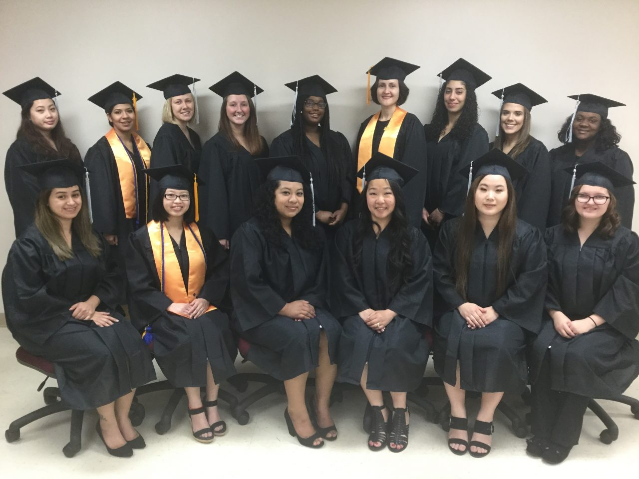 Photo of medical assisting students.