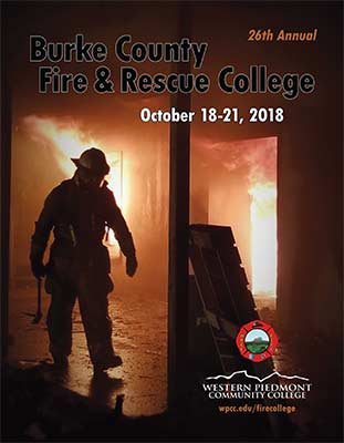 Cover of the 2018 Fire College Booklet