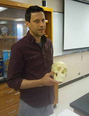 Photo of Mike Moore in the WPCC biology lab