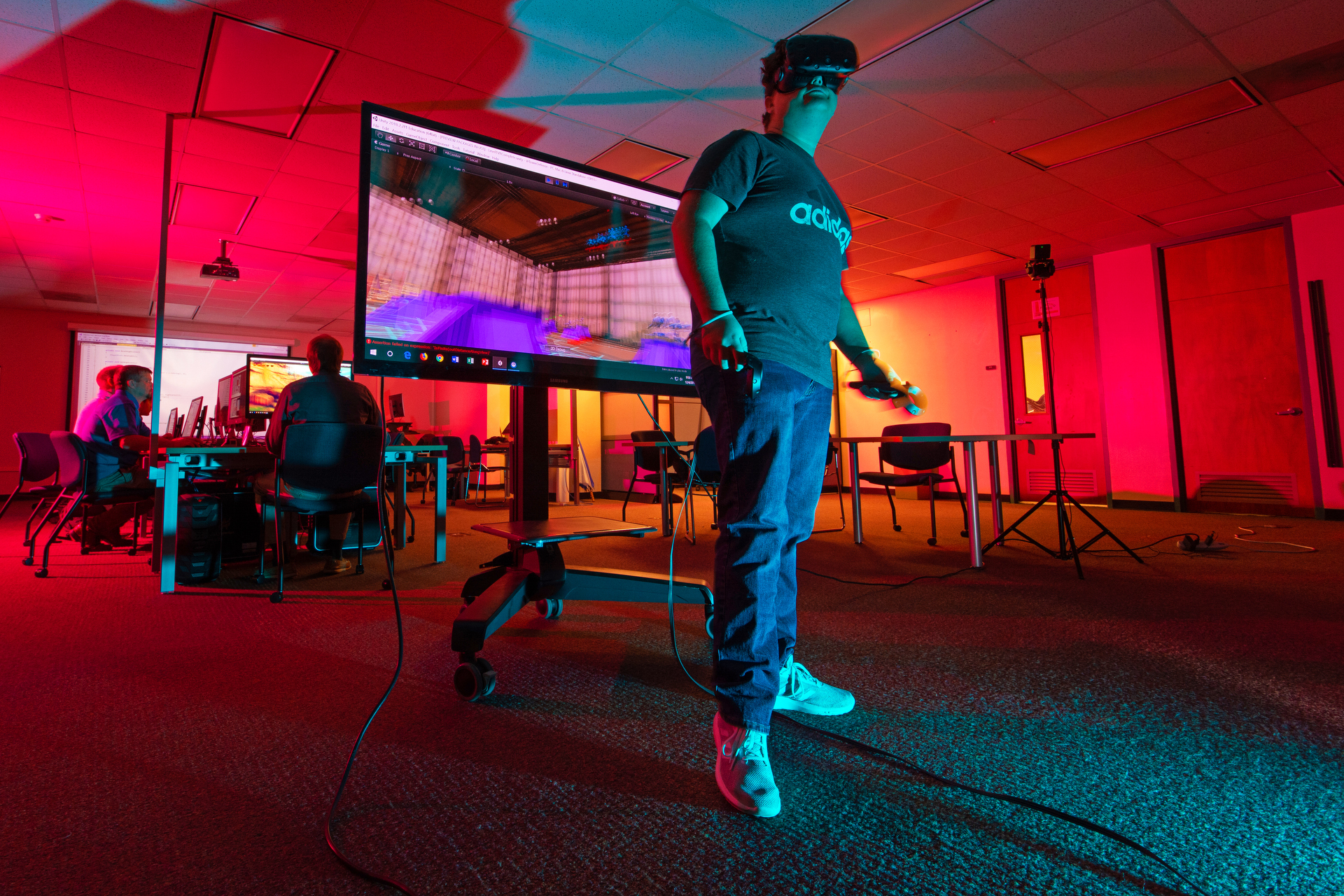 Student with VR Goggles