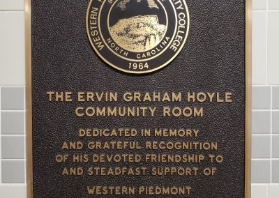 Ervin Graham Hoyle dedication plaque