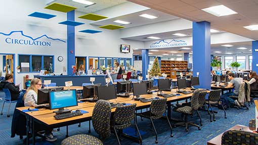 Photo of the interior of the WPCC Library