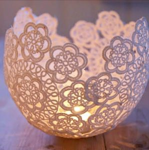 Doily Candle