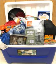 Photo of Camping Basket being Raffled Off