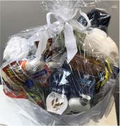 Photo of the variety basket being given away
