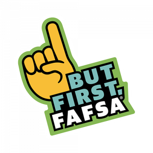 But First, FAFSA logo