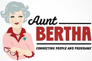 Logo for the Aunt Bertha Website