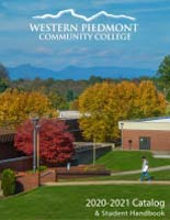 Photo of the WPCC Campus in fall which is the cover of the 2020-2021 WPCC Catalog