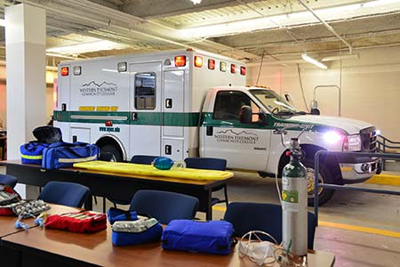Photo of the WPCC training ambulance