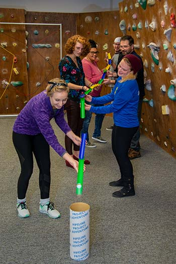 Photo of a Recreational Therapy Assistant class participating in a game in class