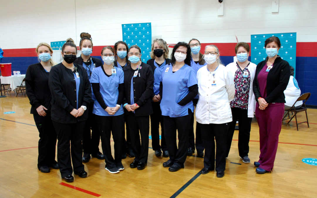 WPCC Nursing students volunteer at COVID-19 vaccination clinic