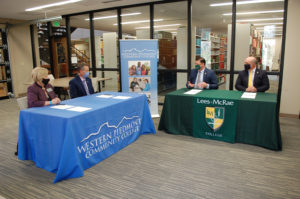WPCC and LMC administration sign the agreement papers.