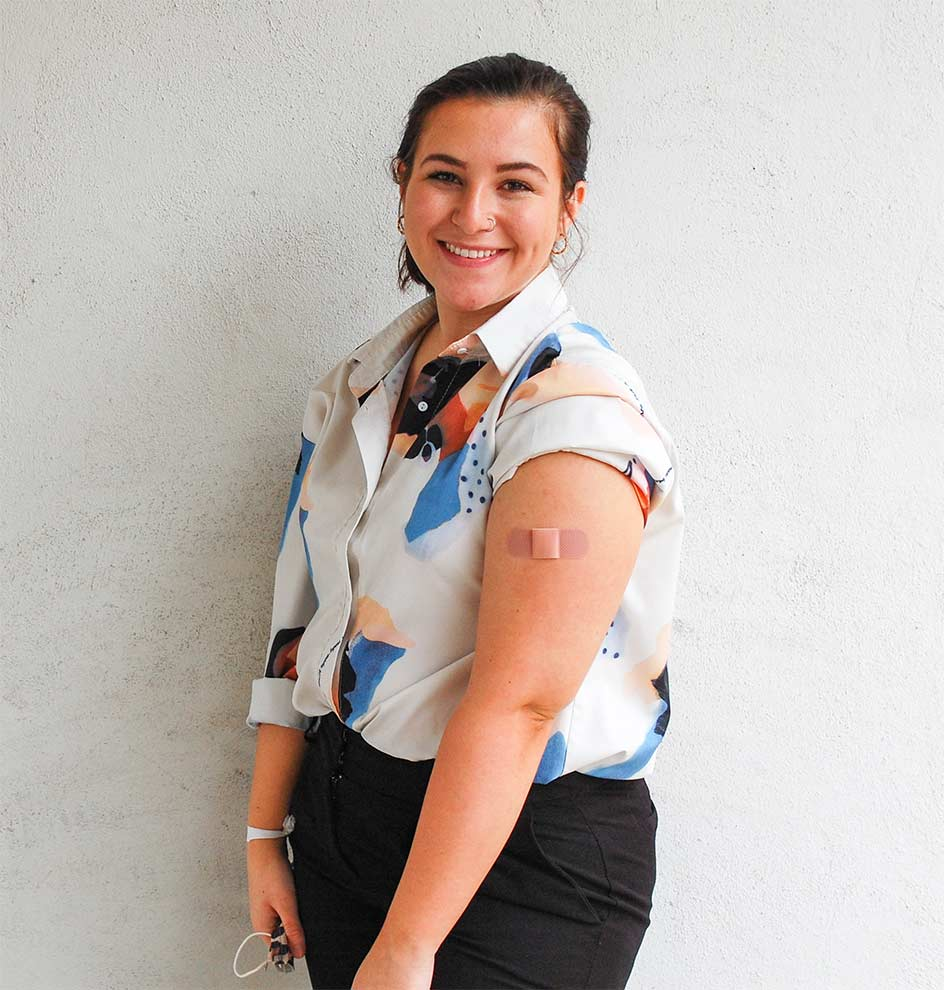 WPCC employee Megan Abee supports vaccination